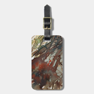 background watercolor luggage tag