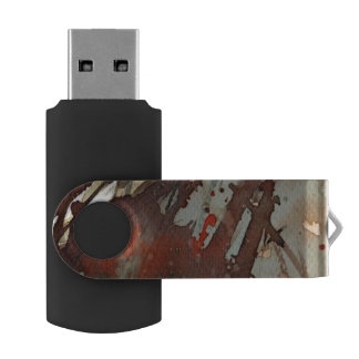 background watercolor swivel USB 2.0 flash drive