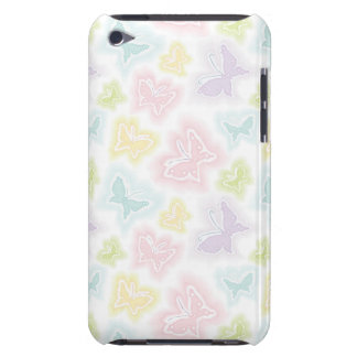 Background with butterflies in watercolor barely there iPod case