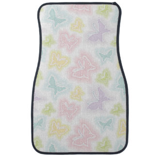 Background with butterflies in watercolor car mat