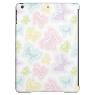 Background with butterflies in watercolor iPad air case