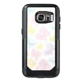 Background with butterflies in watercolor OtterBox samsung galaxy s7 case