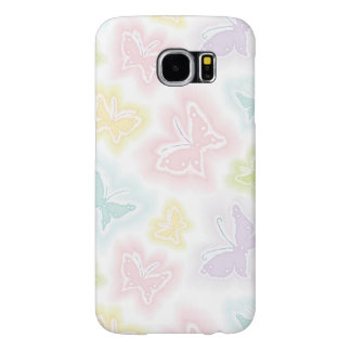 Background with butterflies in watercolor samsung galaxy s6 cases