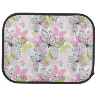 Background with butterfly car mat