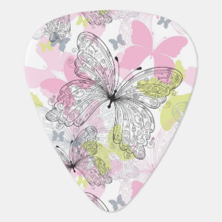 Background with butterfly guitar pick
