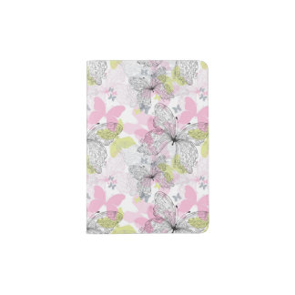 Background with butterfly passport holder