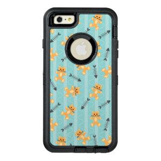 background with cats OtterBox defender iPhone case