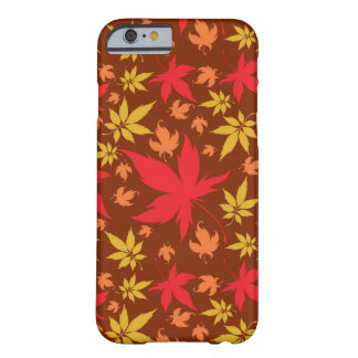 Background with colorful Autumn Leaves Barely There iPhone 6 Case