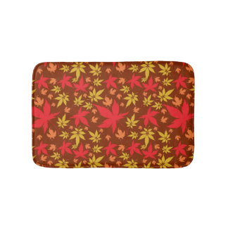 Background with colorful Autumn Leaves Bath Mats