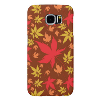 Background with colorful Autumn Leaves Samsung Galaxy S6 Cases