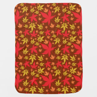 Background with colorful Autumn Leaves Swaddle Blankets