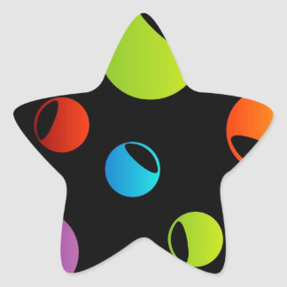 Background with colorful circles star sticker