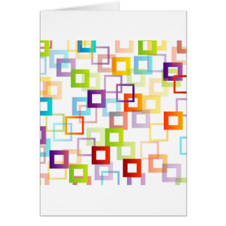 Background with colorful squares greeting card