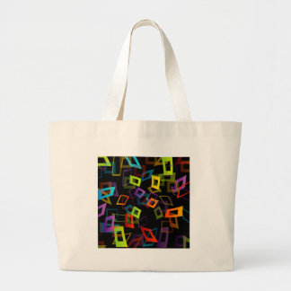 Background with colorful squares jumbo tote bag