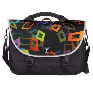 Background with colorful squares laptop bag