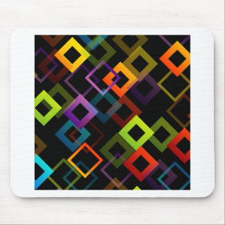 Background with colorful squares mouse pad