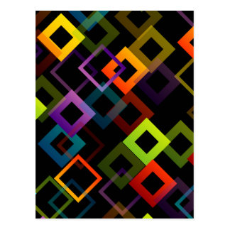 Background with colorful squares postcard