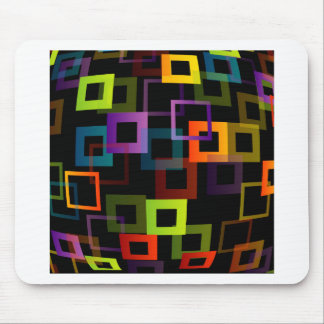 Background with colourful squares mouse pad