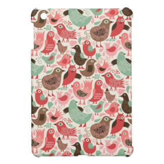 background with cute birds iPad mini case