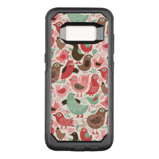 background with cute birds OtterBox commuter samsung galaxy s8 case