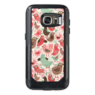 background with cute birds OtterBox samsung galaxy s7 case