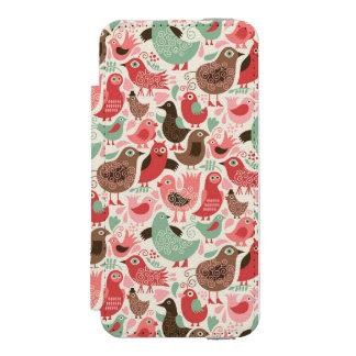 background with cute birds incipio watson™ iPhone 5 wallet case