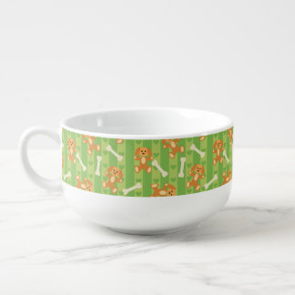 background with dogs and bones soup mug