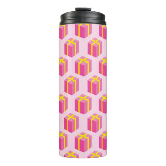 Background with gifts thermal tumbler