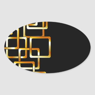 Background with golden squares oval stickers