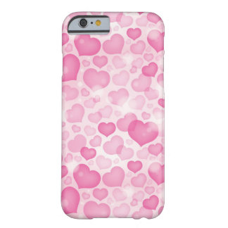 Background with Hearts Barely There iPhone 6 Case