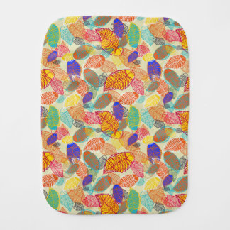 Background With Leaves 2 Burp Cloth