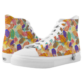 Background With Leaves 2 High Tops