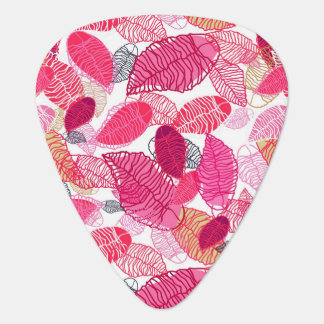 Background With Leaves Guitar Pick