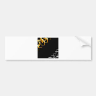 Background with metallic squares bumper sticker