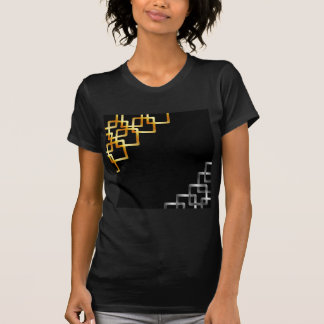 Background with metallic squares t-shirts