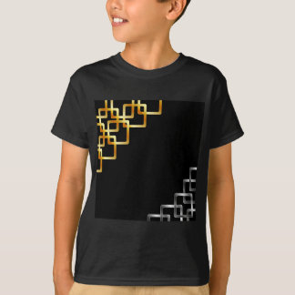 Background with metallic squares tee shirt