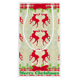 background with reindeers Gift Bag