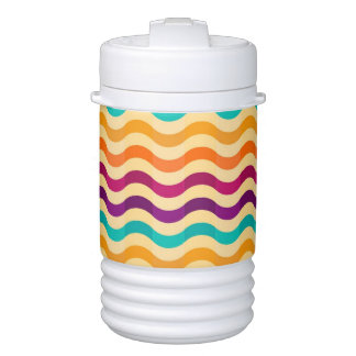Background with stripes in retro 2 cooler