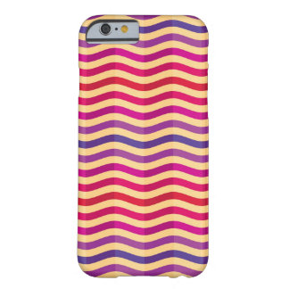 Background with stripes in retro 3 barely there iPhone 6 case