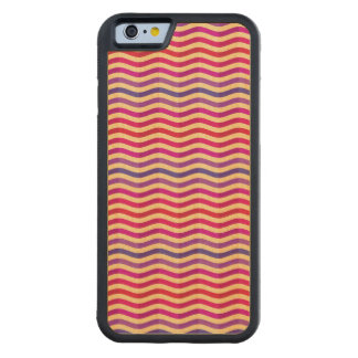Background with stripes in retro 3 carved maple iPhone 6 bumper case