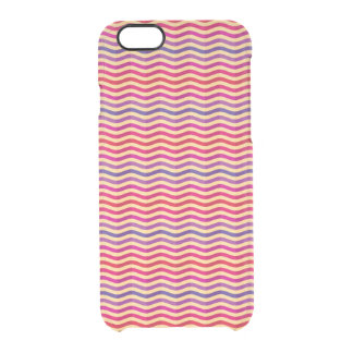 Background with stripes in retro 3 clear iPhone 6/6S case