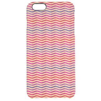 Background with stripes in retro 3 clear iPhone 6 plus case
