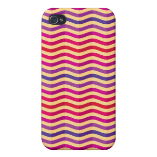 Background with stripes in retro 3 iPhone 4/4S covers