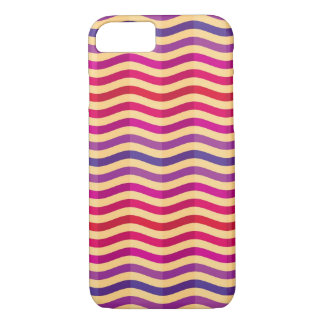 Background with stripes in retro 3 iPhone 8/7 case