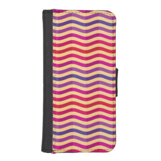 Background with stripes in retro 3 iPhone SE/5/5s wallet case