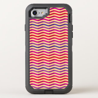 Background with stripes in retro 3 OtterBox defender iPhone 8/7 case
