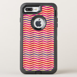Background with stripes in retro 3 OtterBox defender iPhone 8 plus/7 plus case