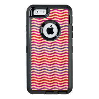Background with stripes in retro 3 OtterBox defender iPhone case