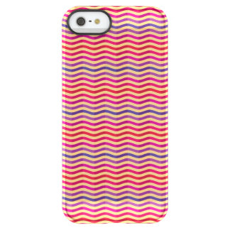 Background with stripes in retro 3 permafrost® iPhone SE/5/5s case