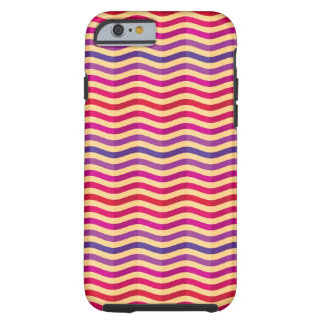 Background with stripes in retro 3 tough iPhone 6 case